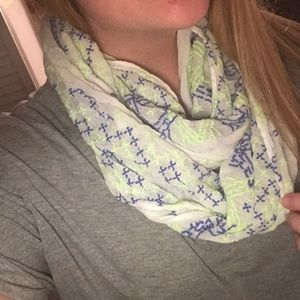 AEO BLUE AND GREEN SCARF